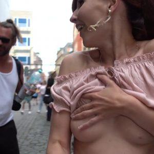 Jeny Smith naked in the public